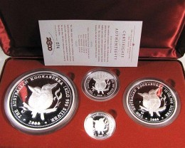 2000 AUSTRALIAN PROOF KOOKABURRA SILVER COIN SERIES CO945