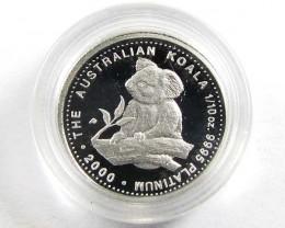 CERTIFIED BU PLATINUM 1/10 COIN 2000  CO 949