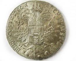 1780 Maria Theresa Silver Thaler Restrike Trade Coin CO 980