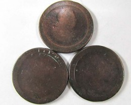 PARCEL 3 BRITISH CARTWHEEL COINS  1797-98   AC 700