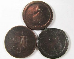 PARCEL 3 BRITISH CARTWHEEL COINS  1797-98   AC701