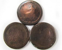PARCEL 3 BRITISH CARTWHEEL COINS  1797-98   AC 703
