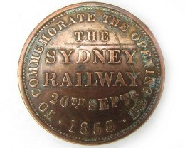 THE SYDNEY RAILWAY  MEDALLION TOKEN  J822