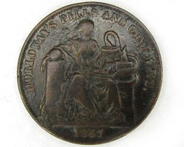 BRITISH 1857  PILLS N OINTMENT TOKEN  J8