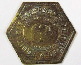 6 d EQUITABLE COOPERATIVE  TOKEN  J837