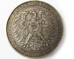 GERMAN 1870-1895 COMMEMERATIVE SILVER MEDALLION   J853