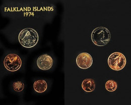 THE 1974 COINAGE OF FALKLANDS  CO 1012