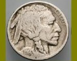 U.S.A. 1936 INDIAN HEAD BUFFALO NICKEL SILVER COIN GOOD COND
