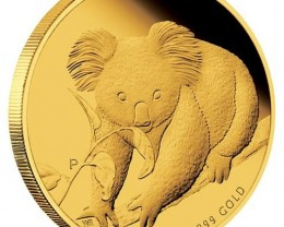 Australian Koala 2010 Gold Proof  1/10 Coin