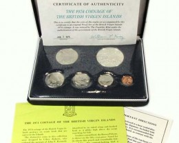 THE 1974 COINAGE OF BRITISH VIRGIN ISLANDS  CO 1035