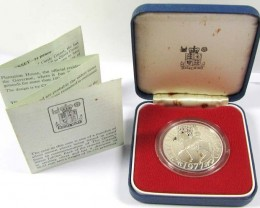 PROOF SILVER 1977 CROWN  CO 1054