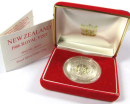 1986 SILVER PROOF ROYAL VIST NEW ZEALAND COIN   CO 1057