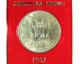 1967 GIBRRALTAR ONE CROWN COIN T 1507