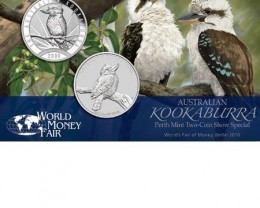 World Money Trade Fair Berlin 2010 two kookaburra coins
