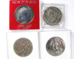 ONE $1 COIN AND 3 CU-NI CROWN   J1520