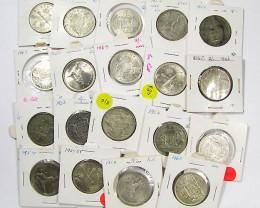 PARCEL 19 FLORIN COINS POST 1946 .500 SILVER J1536