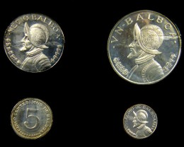 COLLECTORS SIX COIN  1973 PROOF BALBOA PANAMA  SET CO 1060
