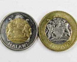 MALAWAI BI METALIC  COINS  2006,    J 1552