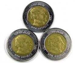 BI METALIC  COINS URUGUAY 2000    J 1561