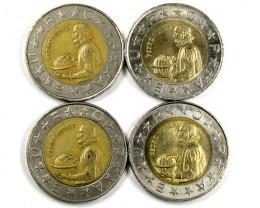 4 X PORTUGAL BI METALIC  COINS      J 1562