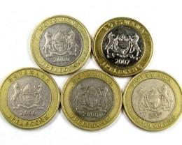 BI METALIC  COINS BOTSWANA 2000    J 1564