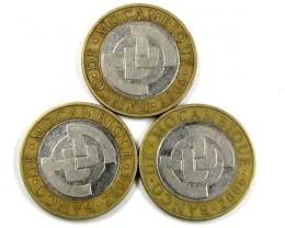 3 X BI METALIC  COINS   2006  J 1574