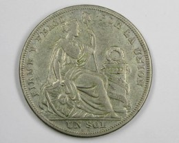 1924 LARGE SILVER .500 COIN      J 1585