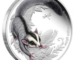 Australian Bush Babies 1/2oz Silver Proof Sugar Glider Coin