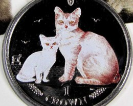 Isle Of Man 2008 Burmilla Cat coin CO 1111