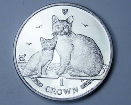 Isle Of Man 2008 Burmilla Cat coin CO 1113