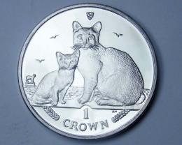Isle Of Man 2008 Burmilla Cat coin CO 1113