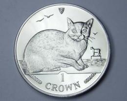 Isle Of Man 1996 Burmese  Cat coin CO 1114