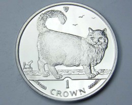 Isle Of Man 1998 Birman  Cat coin CO 1119