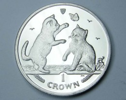 Isle Of Man 2004 Tonkinese  Cat coin CO 1125