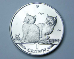 Isle Of Man 2003 balinese  Cat coin CO 1126