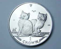 Isle Of Man 2003 balinese  Cat coin CO 1127