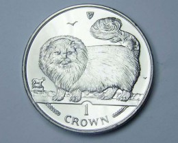 Isle Of Man 1997 Long Haired Smoke Cat coin CO 1128