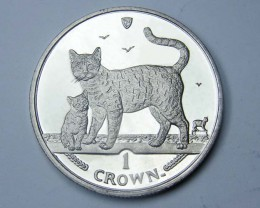 Isle Of Man 2002 Bengal Cat  n kitten coin CO 1131