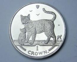 Isle Of Man 2002 Bengal Cat  n kitten coin CO 1131