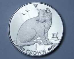 Isle Of Man 1990 New York Alley  Cat coin CO 1133