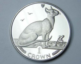 Isle Of Man 1992 Siamese Cat coin CO 1137