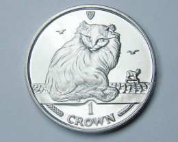Isle Of Man 1995 Turkish Cat coin CO 1140
