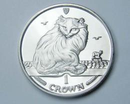 Isle Of Man 1995 Turkish Cat coin CO 1140