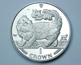 Isle Of Man 1993 Maine Coon  Cat coin CO 1143