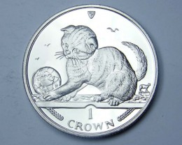 Isle Of Man 2000 Scottish Fold Kitten coin CO 1145