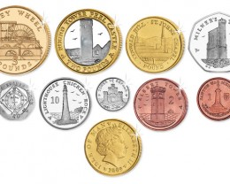 Isle of Man 2009 Uncirculated Decimal Set  coin CO 1163