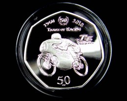 Isle of Man 2010 Suzuki 50 Years of Racing Silv coin CO 1168