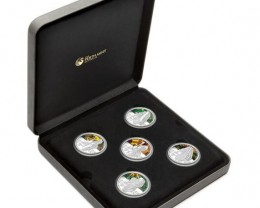 New Tanks of WWII 2010 1oz Silver Proof Five-Coin Set