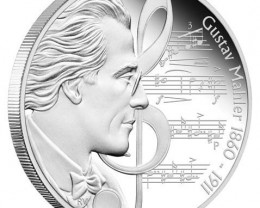 Great Composers 1oz Silver Proof  Gustav Mahler 1860 - 1911