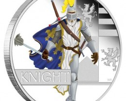 New Great Warriors Series-2010 Knight 1oz Silver Proof Coin